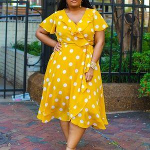 EUC Lane Bryant Ruffled Dress Size 18
